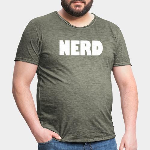 NERD Text Logo White - Men's Vintage T-Shirt