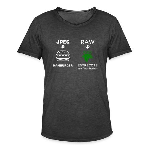 JPEG vs RAW - Camiseta vintage hombre