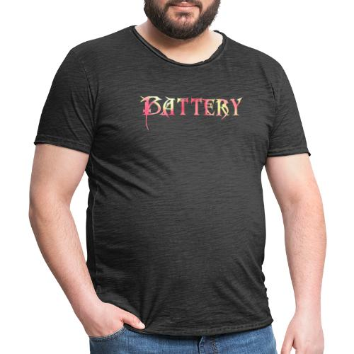 Battery's logo - Vintage-T-skjorte for menn