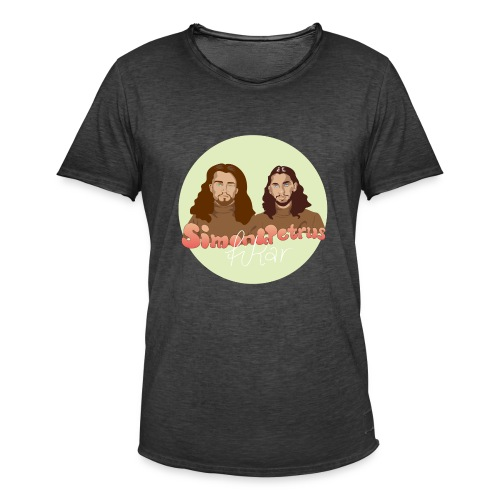 Simon och Petrus fikar - Vintage-T-shirt herr