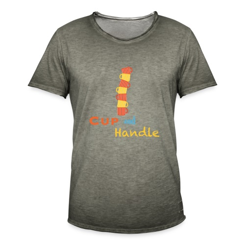 T-Shirt Cup and Handle Traders Stock Market Forex - Maglietta vintage da uomo