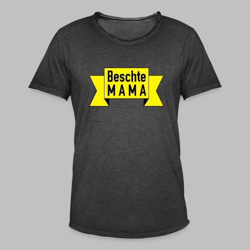 Beschte Mama - Auf Spruchband - Männer Vintage T-Shirt