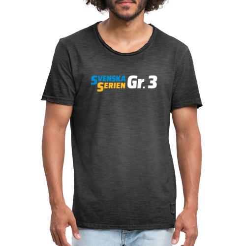 SSGr3 vit - Vintage-T-shirt herr