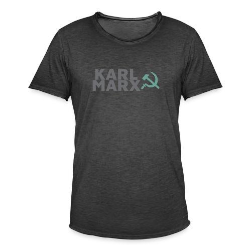 Karl Marx Logo - Maglietta vintage da uomo