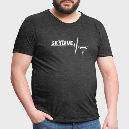 Pulse White - Männer Vintage T-Shirt