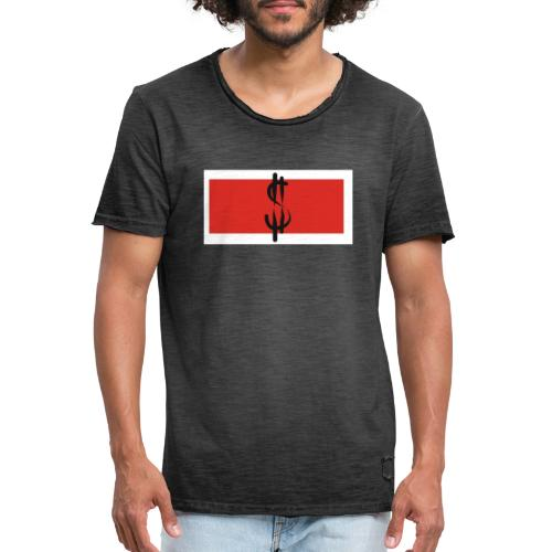 Money in Red - Männer Vintage T-Shirt