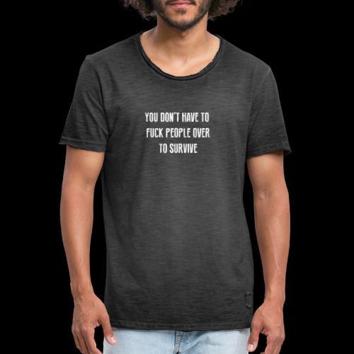 FUCK PEOPLE OVER - 2 SIDED - Men's Vintage T-Shirt