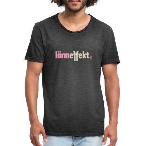 lärmeffekt Schriftzug pink - Männer Vintage T-Shirt