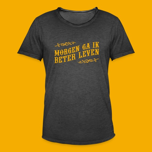 tshirt yllw 01 - Mannen Vintage T-shirt