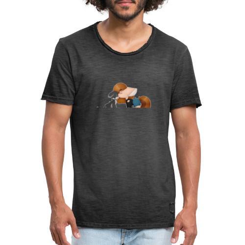 Fursona and Teddy - Men's Vintage T-Shirt