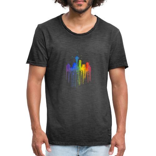 Ville artistique - T-shirt vintage Homme
