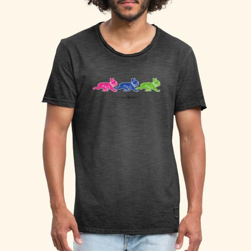 frenchies multicolor - T-shirt vintage Homme