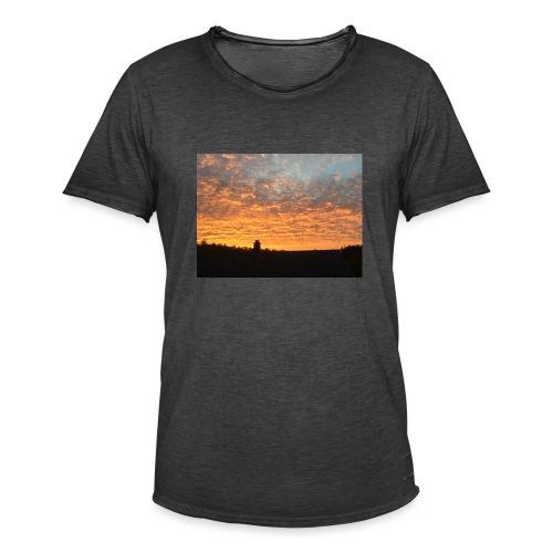 Himmel - Vintage-T-skjorte for menn
