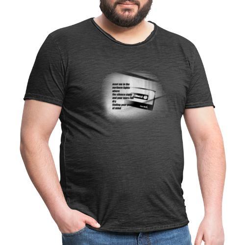 TRUE NORTH TEE - Männer Vintage T-Shirt