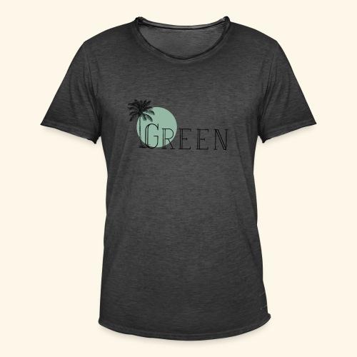 Green - T-shirt vintage Homme