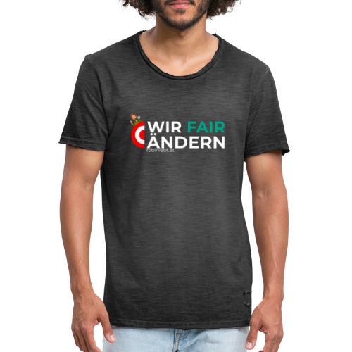 Wir Fairändern Österreich (Flagge) - Männer Vintage T-Shirt