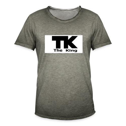 The King med ram - Vintage-T-shirt herr