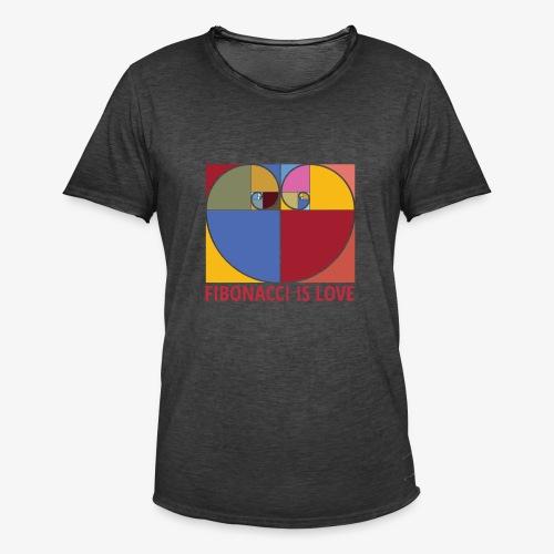 Fibonacci is love - T-shirt vintage Homme