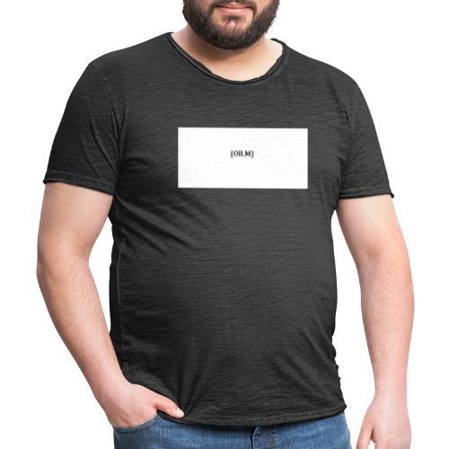 OB M LOGO - Männer Vintage T-Shirt