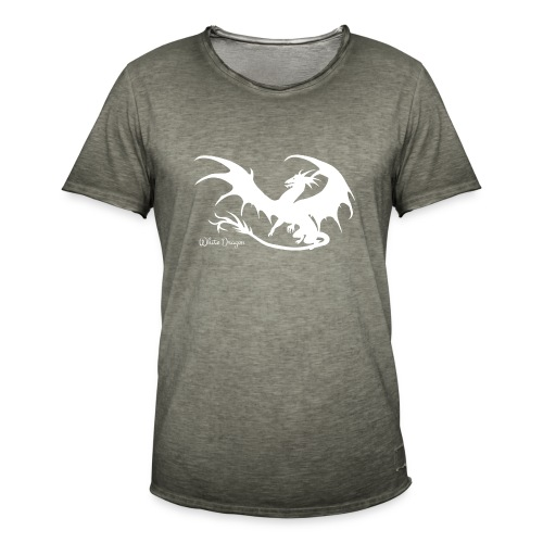 Weisser Drache - Männer Vintage T-Shirt