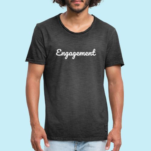 engagement - T-shirt vintage Homme