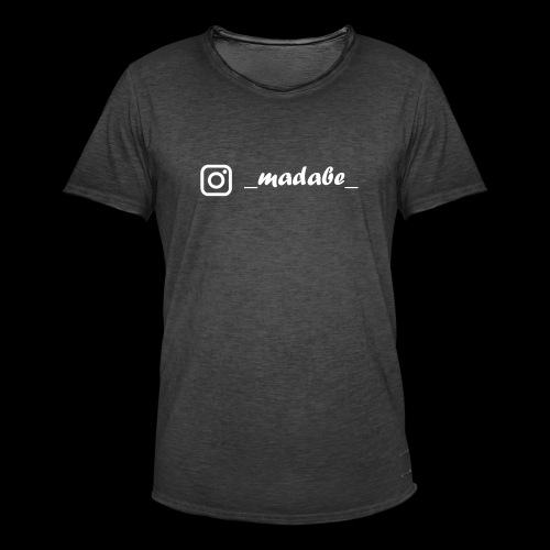 madabe instagram weiss - Männer Vintage T-Shirt