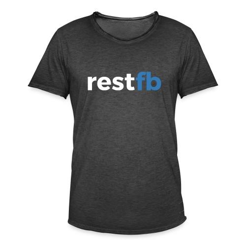 RestFB logo white - Men's Vintage T-Shirt