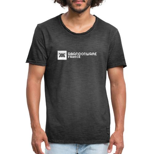 Logo Abandonware France Blanc - T-shirt vintage Homme