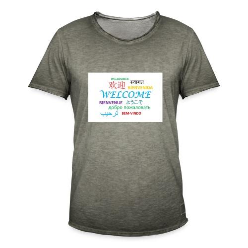 welcome - Männer Vintage T-Shirt
