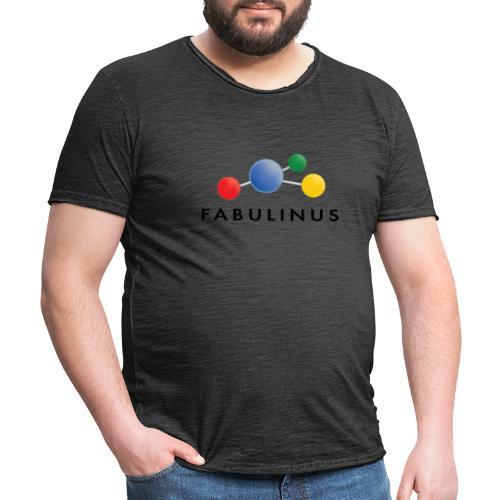 Fabulinus Zwart - Mannen Vintage T-shirt