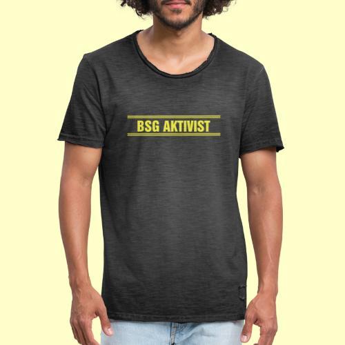 BSG Aktivist Schriftzug - Männer Vintage T-Shirt