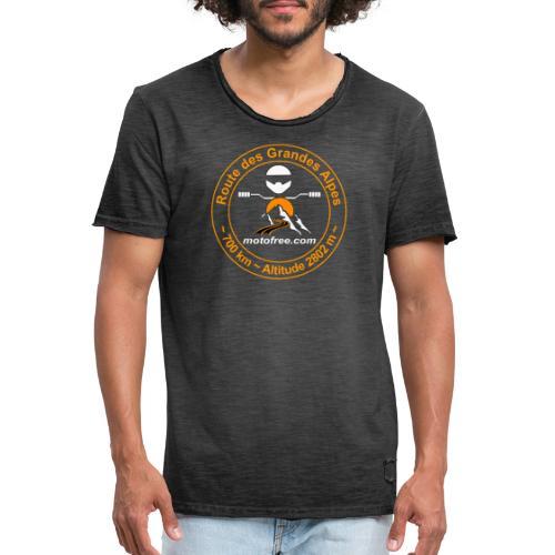 ECUSSON orange - T-shirt vintage Homme