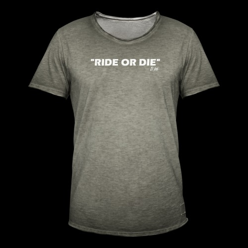 Ride or die (blanc) - T-shirt vintage Homme