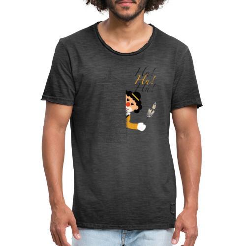 Hu! Hu! Hu! Schwarzgelber Clown am Schwarzen Tor - Männer Vintage T-Shirt