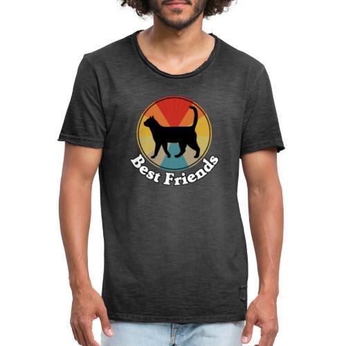 Best Friends - Ich liebe Katzen - Männer Vintage T-Shirt