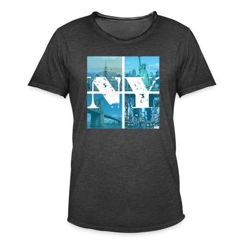 NEW YORK BLUE - Männer Vintage T-Shirt
