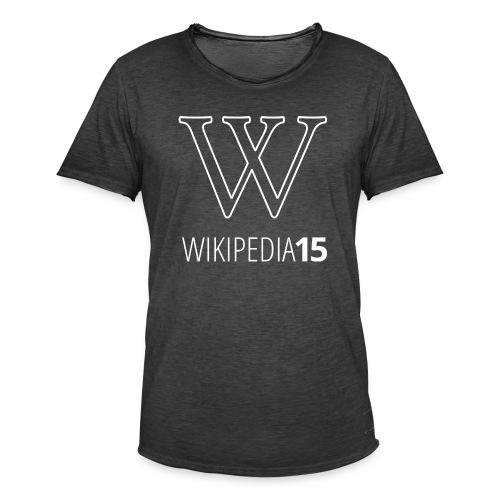 W, rak, svart - Vintage-T-shirt herr