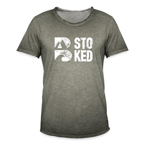 bstoked logo white - Men's Vintage T-Shirt