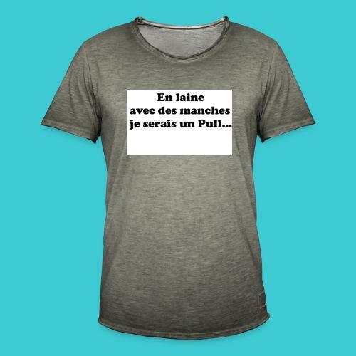 t-shirt humour - T-shirt vintage Homme