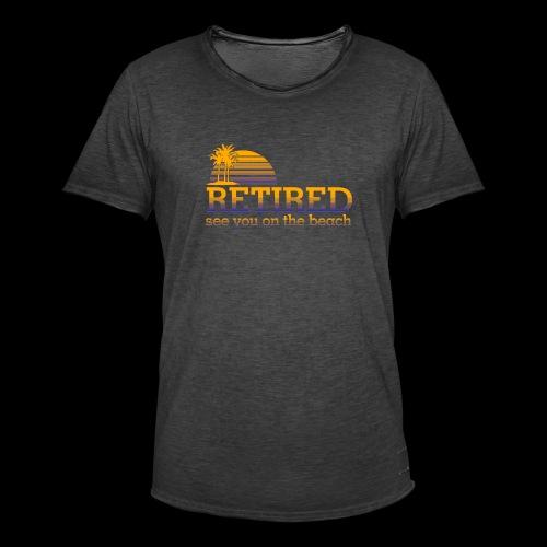 Retraite - T-shirt vintage Homme