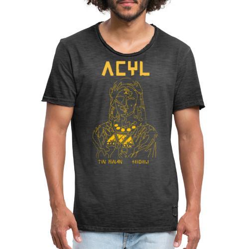 Tin Hinan Yellow - T-shirt vintage Homme