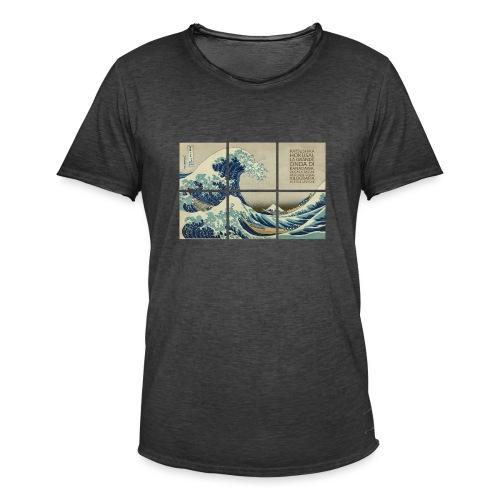 La grande onda di Kanagawa, Katsushika Hokusai - Maglietta vintage da uomo