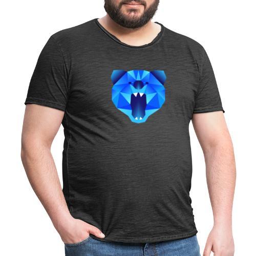 Polygon Bär - Männer Vintage T-Shirt