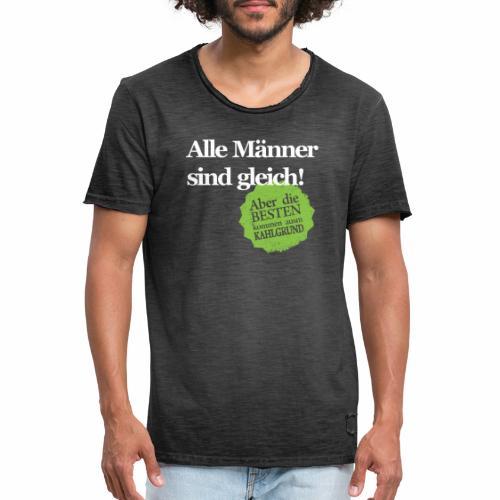 Männer sind gleich, außer Kahlgründer - WEIß/GRÜN - Männer Vintage T-Shirt