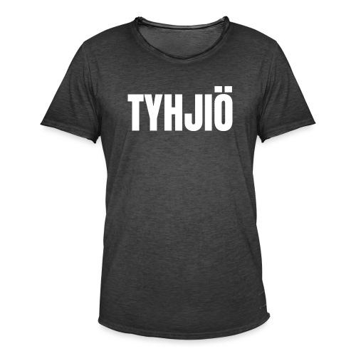 TYHJIÖ Logo White - Miesten vintage t-paita