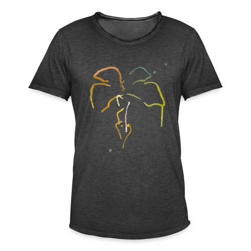 Malet palme - Herre vintage T-shirt