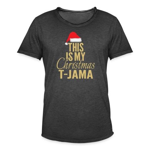 This is my christmas t jama gold 01 - Maglietta vintage da uomo
