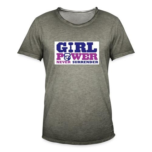 GIRL POWER NEVER surrender 01 - Camiseta vintage hombre