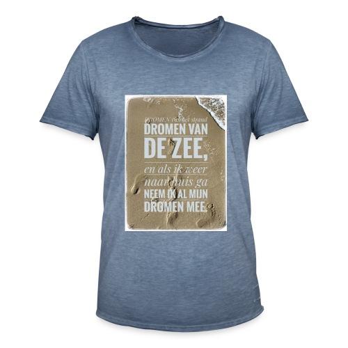Dromen van het strand - Mannen Vintage T-shirt
