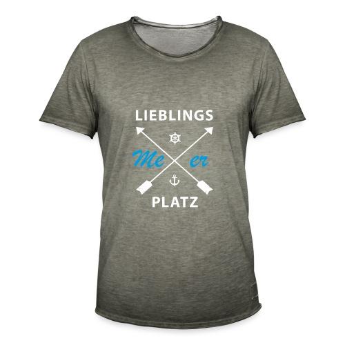Lieblingsplatz Meer - Männer Vintage T-Shirt